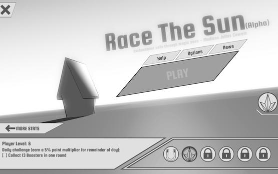 Race the Sun Menu
